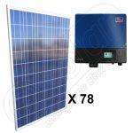 Instalatii de panouri fovoltaice solare trifazate on-grid 19.5 kW cu invertoare SMA
