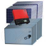 Instalatii fotovoltaice monofazate certificate  on-grid 5 kW cu invertoare SMA