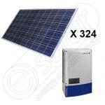 Kit complet panouri fotovoltaice si invertor de 80 KW putere instalata 2x Powador 40.0