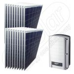 Kit de 4,5 KW pentru alimentarea solara a casei cu invertor on-grid pentru retea SE 4K