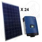 Kit solar de panouri fotovoltaice certificate on-grid 6 kW cu invertor SMA trifazat