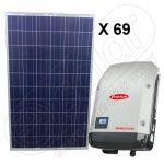 Kit solar fotovoltaic de 17250 W cu injectare in retea Symo 17.5-3-M