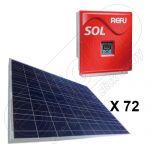 Kituri fotovoltaice cu productie de 60 KWh energie pentru livrare in retea on-grid Refusol 017k