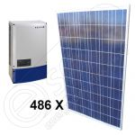 Kituri panouri fotovoltaice independente de 120 KW cu invertor la retea ongrid 3x Powador 40.0