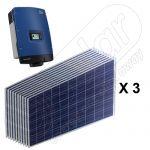 Kituri solare de panouri fotovoltaice on-grid 7.5 kW cu invertoare SMA trifazate