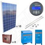 Instalatie fotovoltaica solara pentru irigatii agricole de 4.5kW si productie de 16kWh media zilnica anuala
