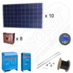 Instalatie solara fotovoltaica cu productia de 8,25kWh media zilnica anuala cu 10 panouri fotovoltaice de 250W