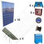 Instalatie solara fotovoltaica pe trackere la cheie de 4kW putere si de 20kWh productie de energie media zilnica anuala