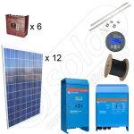 Kit fotovoltaic solar de 3kW putere instalata si 10kWh productie medie zilnica anuala de energie cu predare la cheie