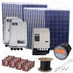 Kit instalatie solara fotovoltaica 6kW putere instalata si 21kWh productie energie electrica media zilnica anuala cu manopera la cheie