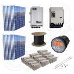 Kit la cheie cu panouri fotovoltaice independente 4.5kW putere instalata si acumulatori GELKit la cheie cu panouri fotovoltaice independente 4.5kW putere instalata si acumulatori GEL