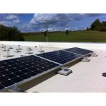 Kit sistem de montaj pentru acoperis plan fara perforare pentru 4 panouri fotovoltaice si 1kW putere instalata