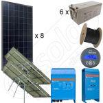 Kit solar fotovoltaic cu putere instalata de 1,6kW pe trackere solare echipate cu senzor de vant