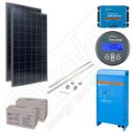 Kit solar fotovoltaic pentru irigatii in plantatii agricole de 400W putere instalata si 1320kWh productie media zilnica anuala