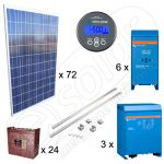 Kit solar instalatie fotovoltaica de 18kW putere instalata si 63kWh productie media zilnica anuala pentru irigatii