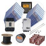 Kituri fotosolare trizafate la cheie cu montaj si manopera incluse de 3 kW putere instalata si 10kWh media zilnica anuala