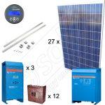 Kituri fotovoltaice pentru irigatii in culturi agricole cu structura de montaj pentru acoperis inclinat si 24kWh productie de energie