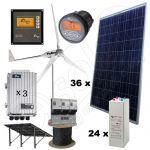 Kituri hibride cu productie de energie de 32kWh cu panouri solare 9kW si turbine eoliene 6kW putere instalata