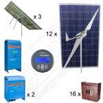 Kituri hibride eoliene si solare pentru irigatii agricole cu putere instalata de 3kW pe trackere solare si 3kW turbina