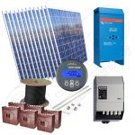Kituri sisteme solare fotovoltaice independente la cheie de 3kW putere instalata pentru zone rezidentiale
