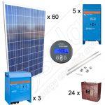 Kituri solare fotovoltaice pentru irigatii cu productie de energie de 52kWh media zilnica anuala si 15kW putere instalata