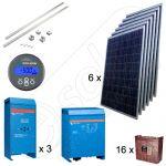 Kituri solare fotovoltaice pentru irigatii in agricultura cu productie de energie de 31kWh si 9kW putere instalata