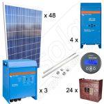 Kituri solare off-grid de 12kW putere instalata si 42kWh productie media zilnica anuala pentru plantatii pomicole si agricole