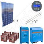 Kituri solare pentru irigatii cu putere instalata de 3kW si stocare banc acumulatori de15kW