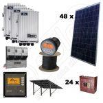 Kituri solare trifazice 12kW putere instalata cu structura de montaj pentru sol si manopera inclusa