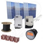 Pachet de panouri solare la cheie cu 4.5kW putere instalata si 16kWh productie curent electric media zilnica anuala