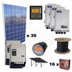 Pachet panouri solare fotoelectrice 10kW putere instalata si 35kWh productie de energie electrica media zilnica anuala