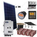 Pachete kituri fotovoltaice trifazate de 9kW putere instalata si 32kWh productie energie media zilnica anuala