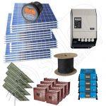 Panouri fotovoltaice cu trackere solare kit complet la cheie pentru case cu 4kW putere instalata