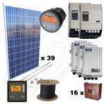 Sistem complet la cheie cu panouri solare fotovoltaice cu 10kW putere instalata si garantie de 12 ani