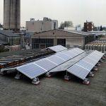 Sistem de montaj pentru 6 panouri solare de 1.5kW putere instalata pentru acoperis plan