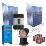 Sistem fotovoltaic complet la cheie de 3kW putere instalata si capacitate stocare in baterii solare de 15 kW