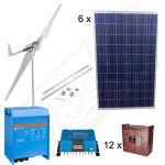 Sistem hibrid eolian si solar monofazat de 3kW pentru irigatii in agricultura