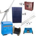 Sistem hibrid off-grid monofazat fotovoltaic 1,5kW si eolian 3kW