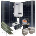 Sistem la cheie cu trackere solare instalatie cu celule fotovoltaice pentru case 1.6kW putere instalata si 8kWh media zilnica anuala