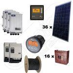 Sisteme fotovoltaice solare stand alone complete cu montaj inclus de 9kW putere instalata