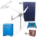 Sisteme hibride fotovoltaice si eoliene pentru irigatii in agricultura cu turbine eoliene de 6kW si panouri fotovoltaice de 1.5kW