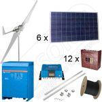 Sisteme hibride off-grid monofazate cu turbine eoliene de 3000 W si panouri fotovoltaice de 1500 W