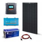 Kit solar autonom 320W, 12V-230V stocare, 1800Wh, cu cabluri premontate, un panou fotovoltaic monocristalin 320W 2V, un regulator de incarcare MPPT 30A, 12V / 24V si o baterie solara 150Ah 12V pret ieftin