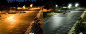 Stalpi cu LED-uri pentru iluminat stradal LED-5M 5