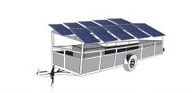Remorca cu 10 panouri fotovoltaice IDELLA Mobile Energy IME 10