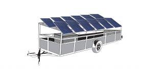 Remorca cu 12 panouri fotovoltaice mobile IDELLA Mobile Energy IME 12