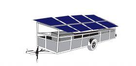 Remorca mobila cu 8 panouri fotovoltaice IDELLA Mobile Energy IME 8