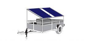 Remorca solara generator fotovoltaic mobil IDELLA Mobile Energy IME 2
