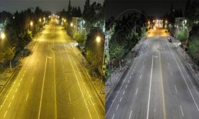 Stalpi cu LED-uri pentru iluminat stradal LED-5M 4