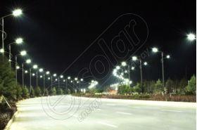 Stalp stradal de iluminat cu lampa cu LED-uri LED-6M